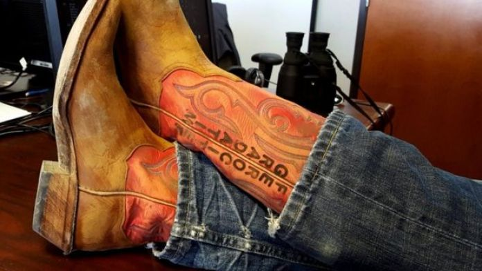 Jeff Bezos' boots