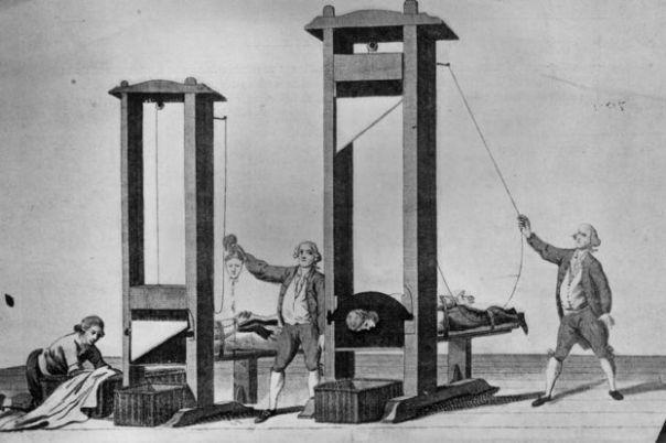 La guillotina durante la Revolución Francesa