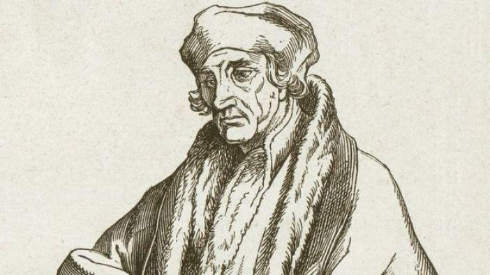 Dibujo de Desiderius Erasmus Roteradamus.