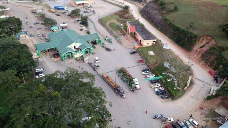 Frontera entre Belice y Guatemala