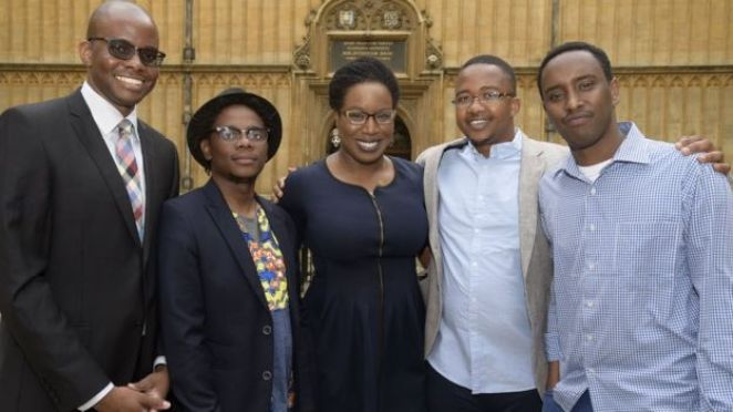 The five shortlisted authors for 2016 Caine Prize
