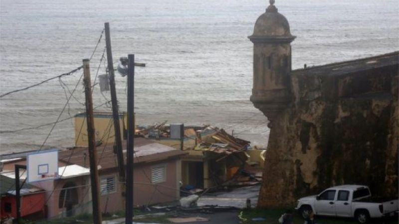 Daños del huracán María en San Juan de Puerto Rico.