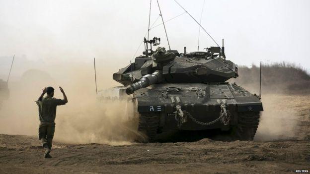 Israeli tank in Golan Heights, 21 August 2015