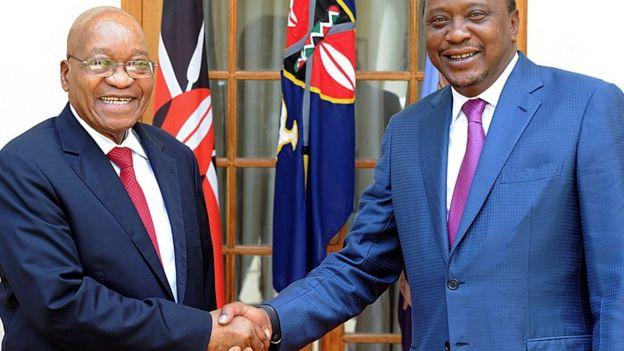 South African President Jacob Zuma and Kenyan President Uhuru Kenyatta - 11 October