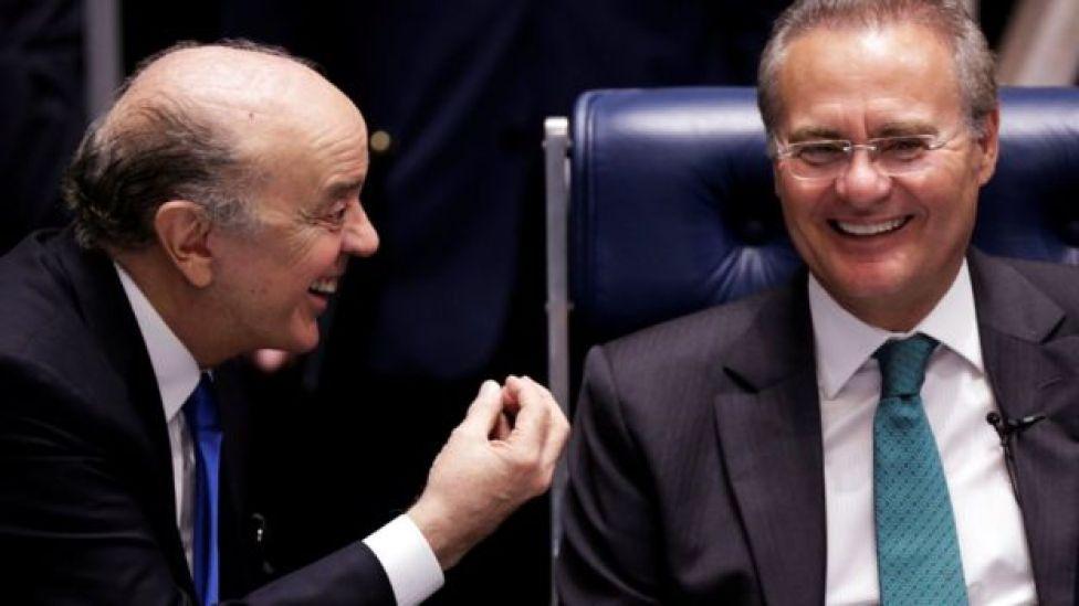 José Serra e Renan Calheiros