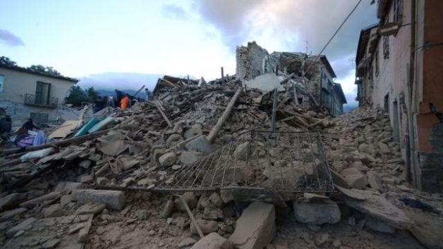 Quake damage in Amatrice (24 August 2016)
