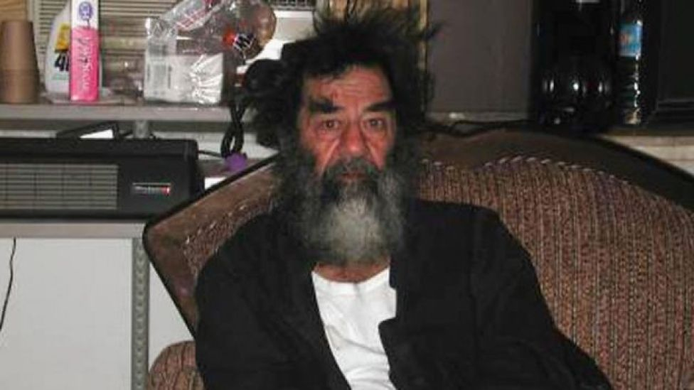 Saddam Hussein following his capture
