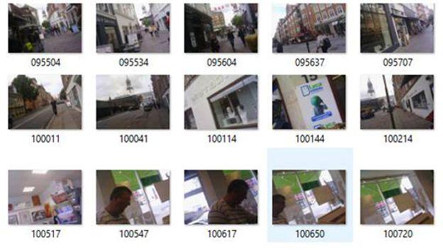 Una secuencia de fotos tomadas por Morris
