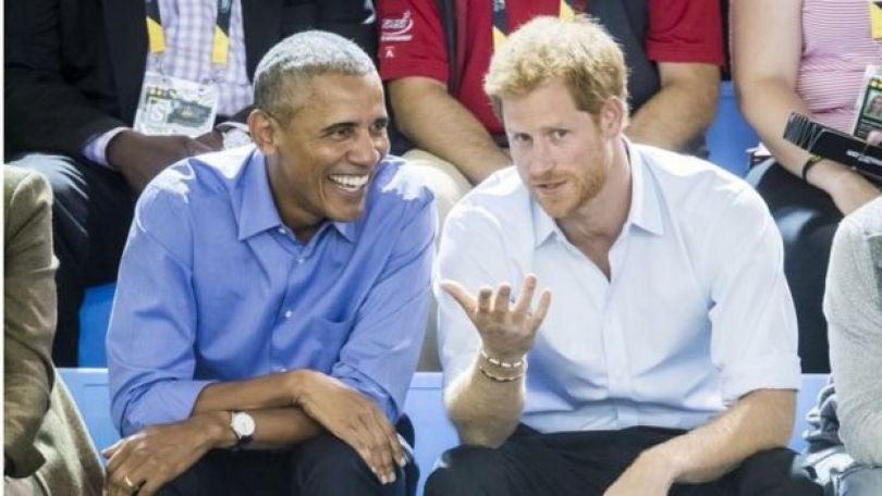Obama e Harry no Canadá