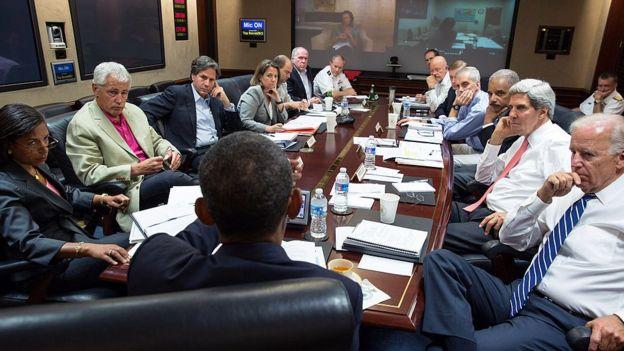 barack Obama in situation room