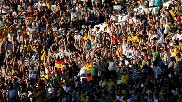 Torcida do Brasil em jogo da Alemanha