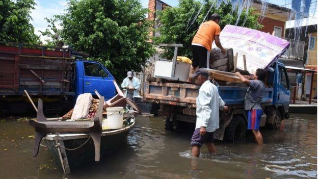 Inundaciones en Asunción, Paraguay