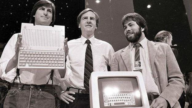 Jobs and Sculley and Wozniak