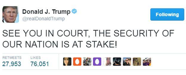 Trump tweet: