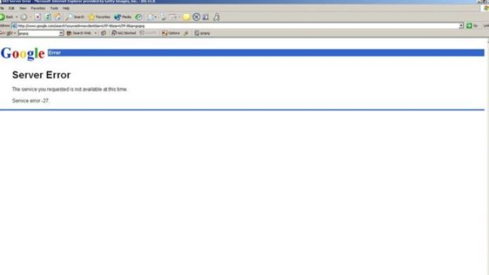 error de Google