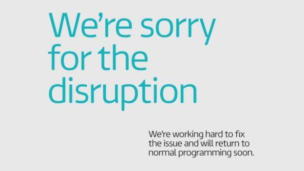 ITV error message