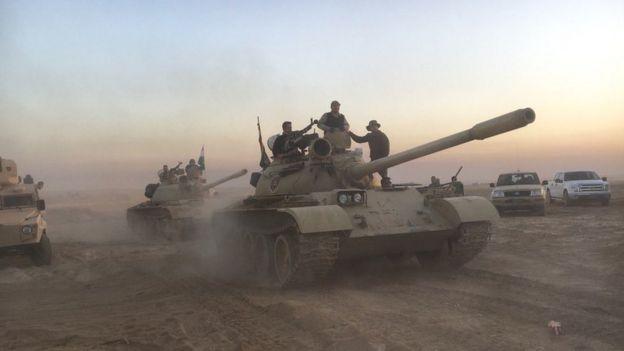 Peshmerga soldiers prepare for operation to retake Mosul