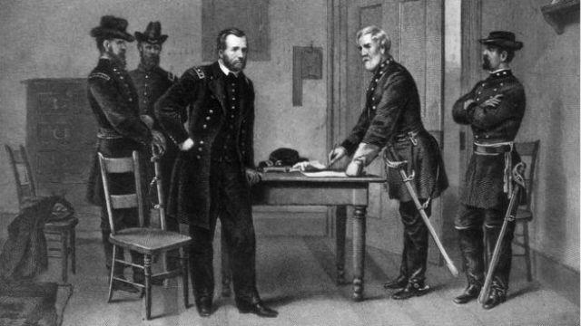 Rendición de Lee ante Ulysses S. Grant.
