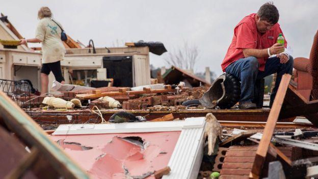 Casa de Jenny Bullard destruida.