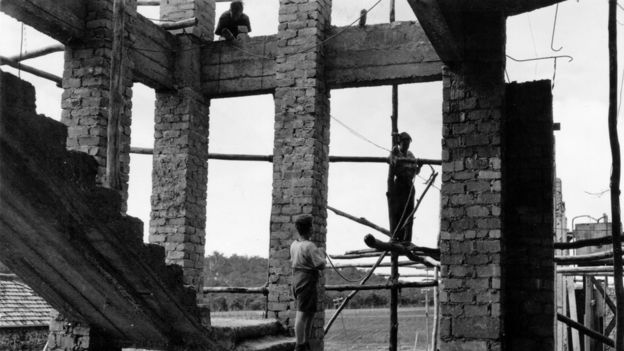 Boys working on building site at Bindoon Boys' Town