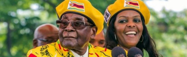Grace and Robert Mugabe together