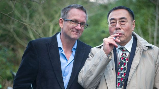 Michael Mosley and Hon Lik, the inventor of the e-cigarette