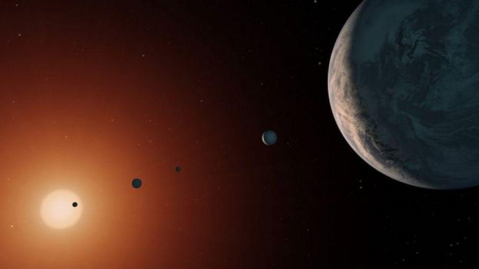 Ilustración de TRAPPIST-1. Foto: NASA/JPL-Caltech.