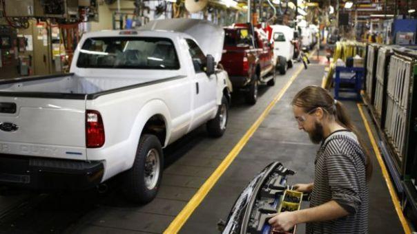 Una fábrica de vehículos en Detroit.