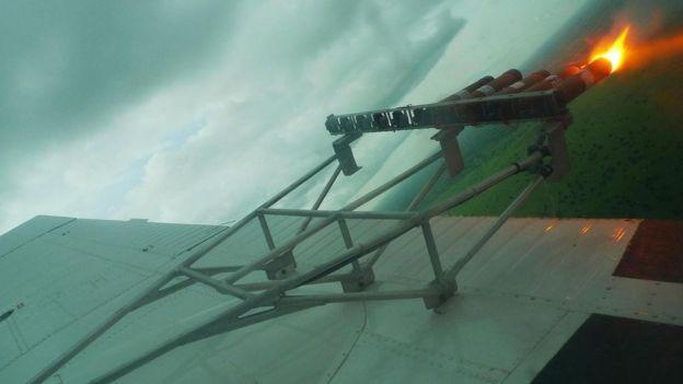 bengalas en los aviones