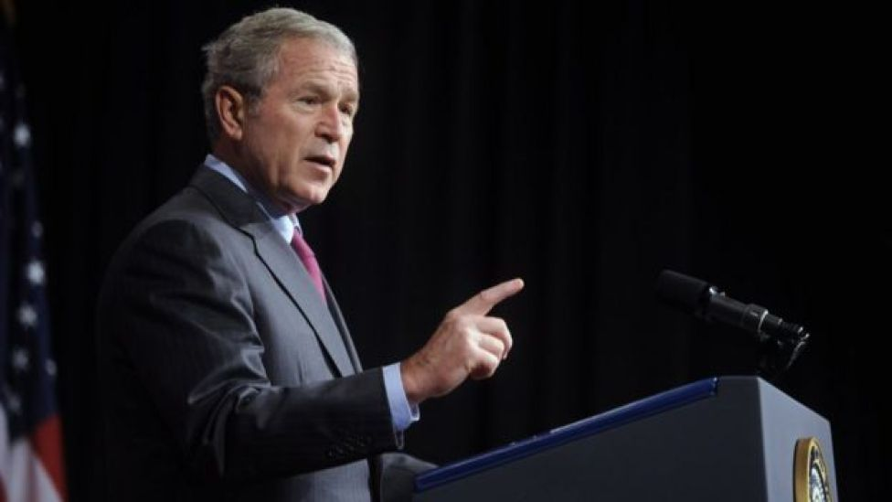 George Bush speaks on Iraq in Washington