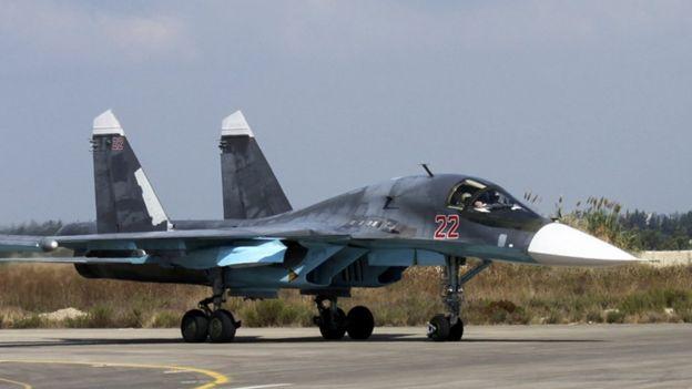 Avión de combate ruso en Siria