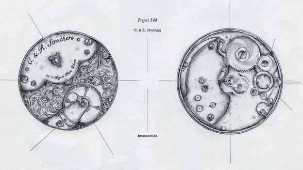 أحد تصميمات الساعات من إنتاج كريغ وريبيكا ستراذرز