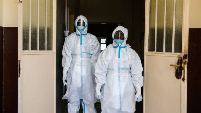 Healthcare staff caring for Ebola patients