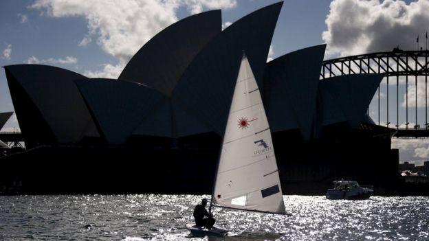 Barco a vela em Sydney