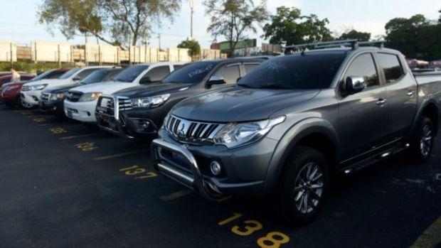 Autos confiscados a la Mara Salvatrucha