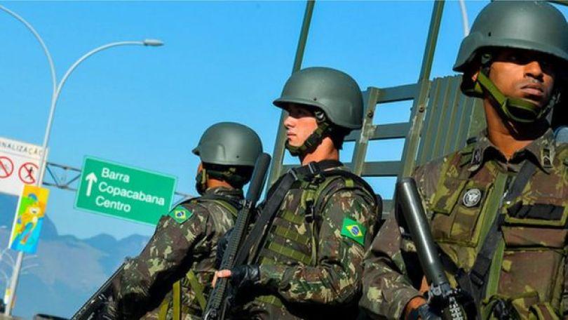 Exército patrulha Rio nas Olimpiadas de 2016