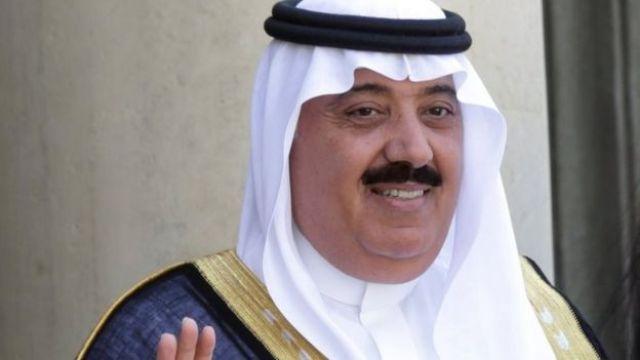 File photo showing Saudi Prince Miteb bin Abdullah at the Elysee Palace in Paris, France (18 June 2014)