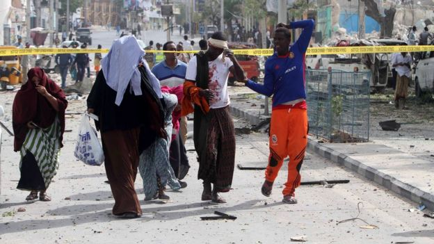 Injured man after Somali attack