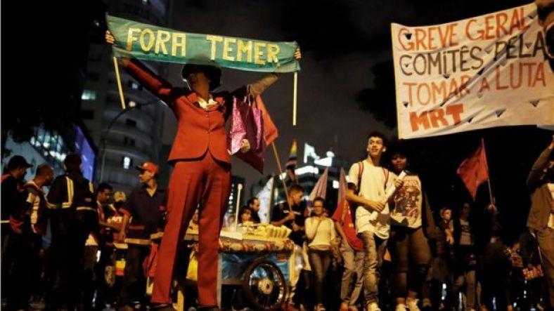 Manifestação contra Temer no Rio de Janeiro