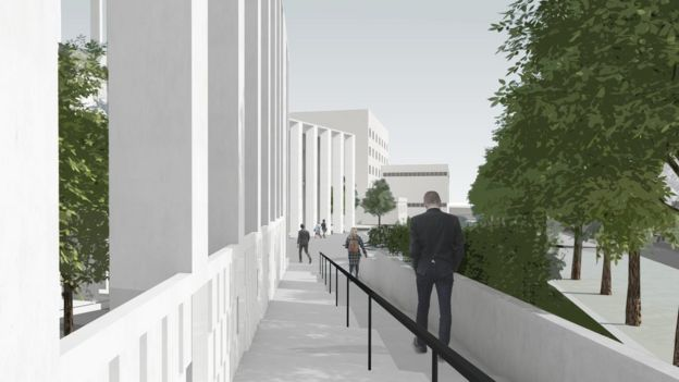 Illustration of outside of planned new centre