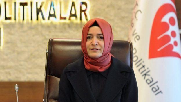 الوزيرة التركية