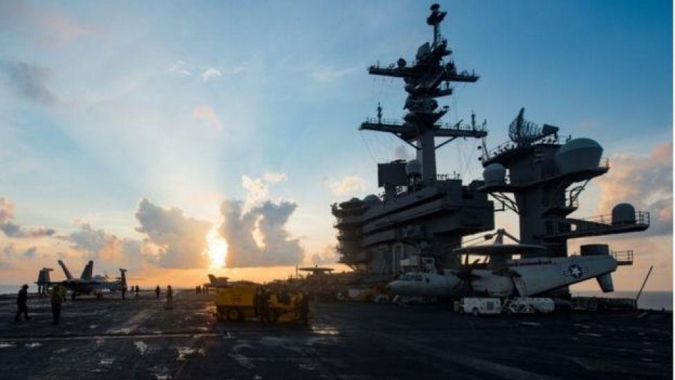 The USS Carl Vinson, 8 April 2017