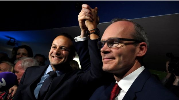 Leo Varadkar was congratulated by Simon Coveney after Friday's result