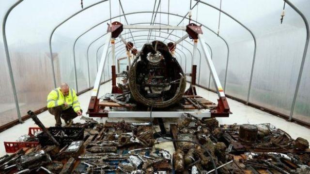 Un bombardero Dornier 17 rescatado de los Goodwin Sands