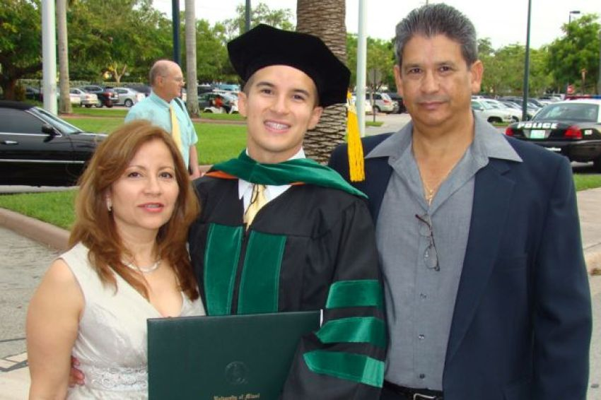 Salinas graduating from medical school in Miami