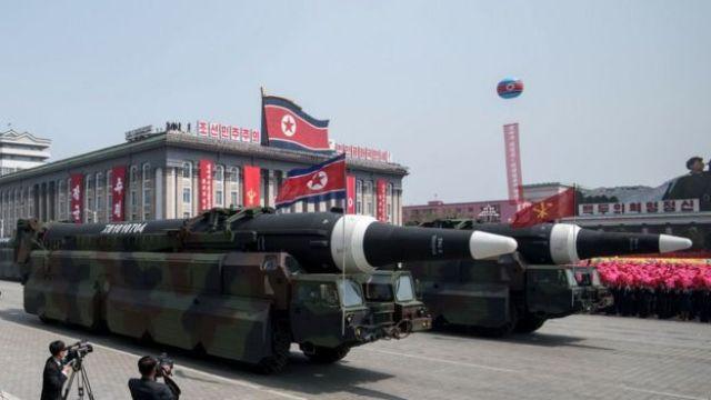 Rockets at military parade
