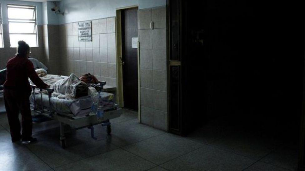 Apagón en un hospital en San Cristóbal, Venezuela