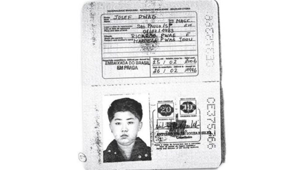 Cópia do passaporte que a Reuters diz ter sido usado pelo atual presidente da Coreia do Norte
