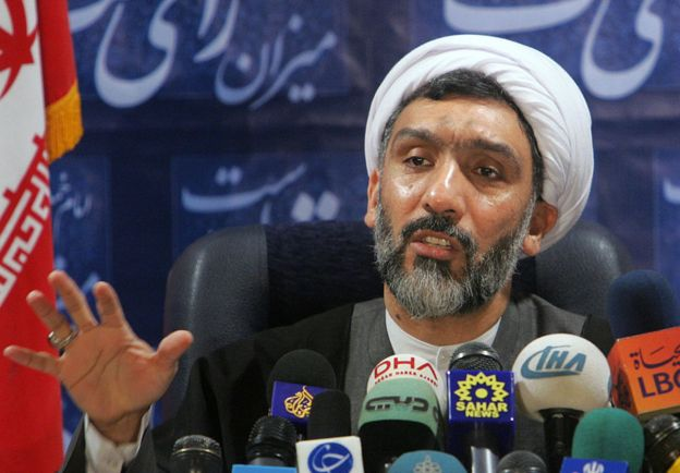 Mostafa Pourmohammadi speaks during a press conference in Tehran on 20 December 2006.