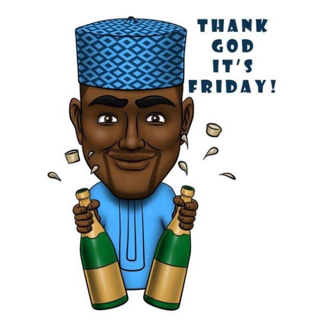 Thank God It's Friday emoji